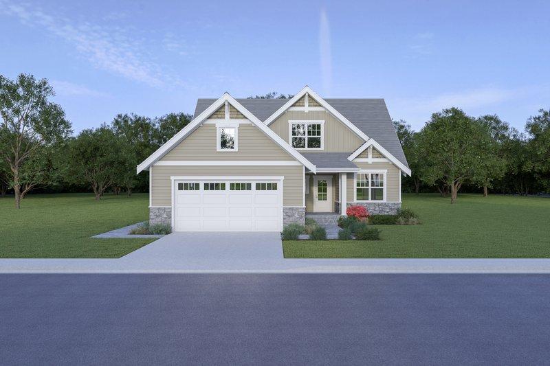 Architectural House Design - Craftsman Exterior - Front Elevation Plan #1070-78