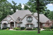 European Style House Plan - 3 Beds 3 Baths 2848 Sq/Ft Plan #52-227 Exterior - Front Elevation