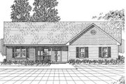 Traditional Style House Plan - 3 Beds 2 Baths 1867 Sq/Ft Plan #30-158 Exterior - Front Elevation