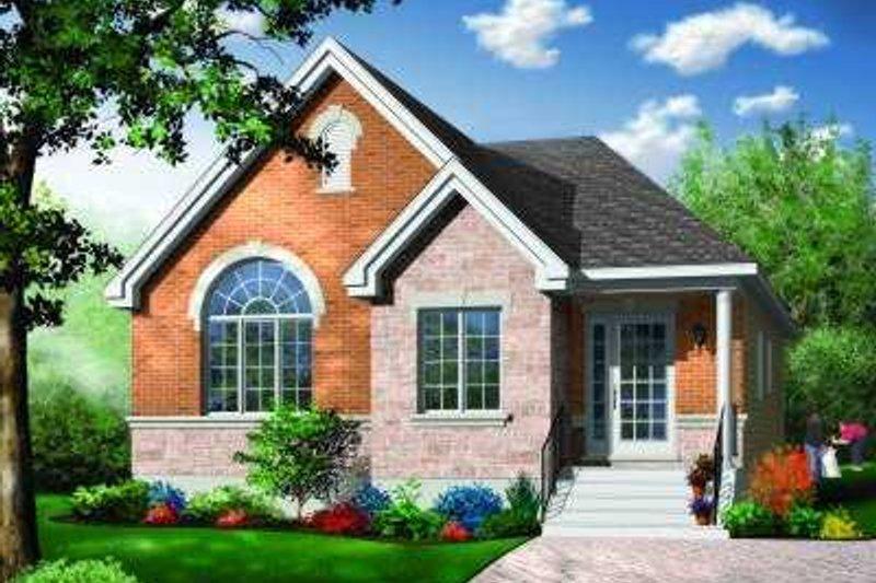 House Plan Design - European Exterior - Front Elevation Plan #23-351