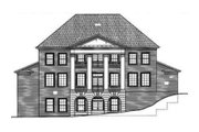 Classical Style House Plan - 4 Beds 3.5 Baths 4102 Sq/Ft Plan #119-118 Exterior - Rear Elevation