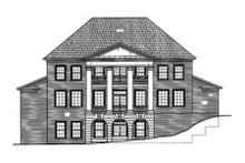 Classical Exterior - Rear Elevation Plan #119-118