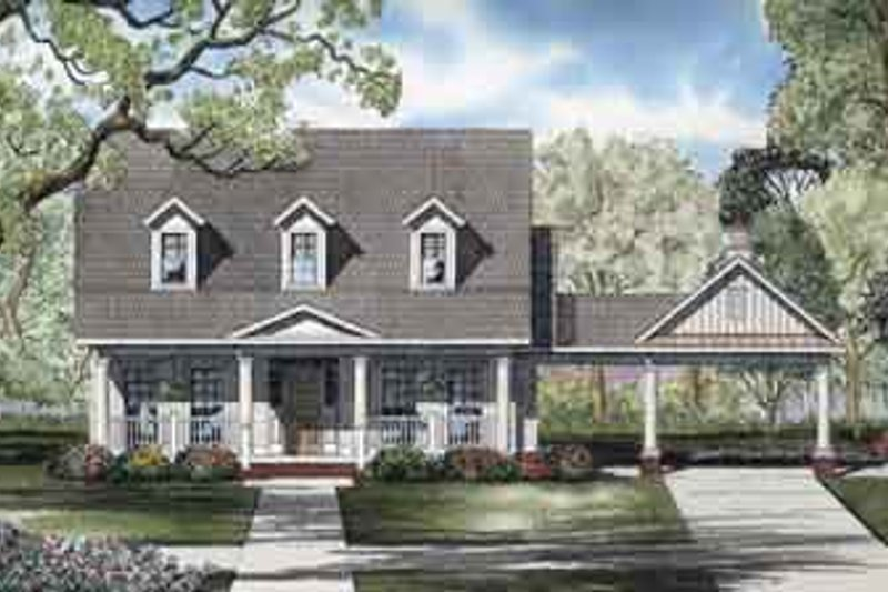 Dream House Plan - Colonial Exterior - Front Elevation Plan #17-2117