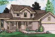 Traditional Style House Plan - 3 Beds 2.5 Baths 1615 Sq/Ft Plan #20-225 Exterior - Front Elevation