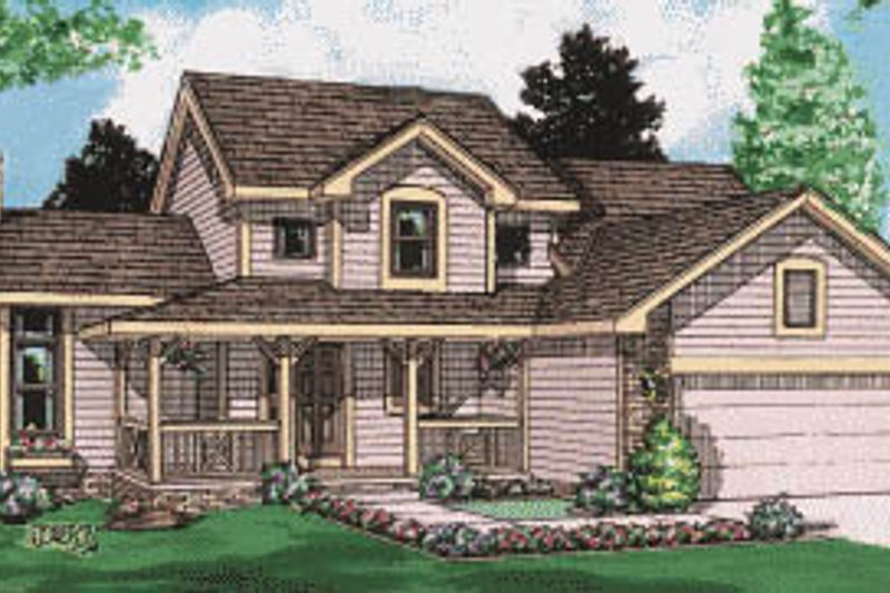 Home Plan - Traditional Exterior - Front Elevation Plan #20-225