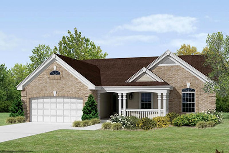 Traditional Exterior - Front Elevation Plan #57-368 - Houseplans.com
