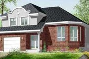 European Style House Plan - 3 Beds 1.5 Baths 1624 Sq/Ft Plan #25-326 Exterior - Front Elevation