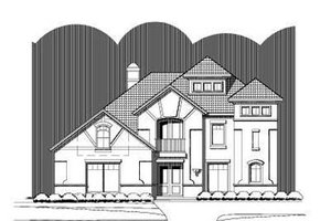 European Exterior - Front Elevation Plan #411-142