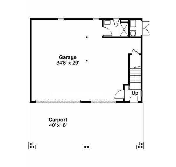 House Plan Design - Beach style house plan, main level floor plan