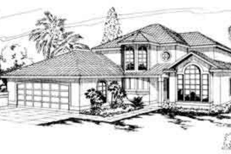 Home Plan - Mediterranean Exterior - Front Elevation Plan #124-225