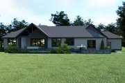 Craftsman Style House Plan - 3 Beds 2.5 Baths 2546 Sq/Ft Plan #1070-38 Exterior - Rear Elevation