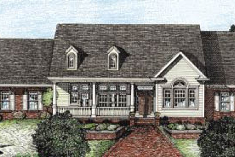 Home Plan - Traditional Exterior - Front Elevation Plan #20-108