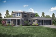 Contemporary Style House Plan - 3 Beds 3 Baths 3027 Sq/Ft Plan #124-1112