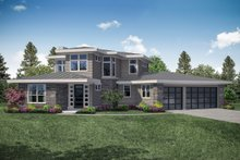 Contemporary Exterior - Front Elevation Plan #124-1112