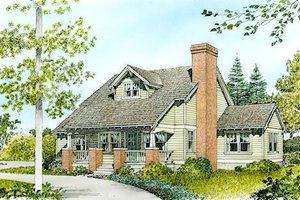 Cottage Exterior - Front Elevation Plan #140-127