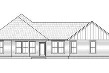 Farmhouse Exterior - Rear Elevation Plan #1074-26