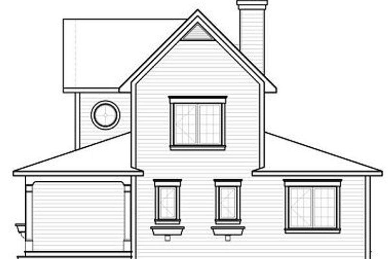 Traditional Exterior - Rear Elevation Plan #23-826 - Houseplans.com