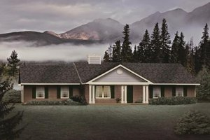 Ranch Exterior - Front Elevation Plan #22-110