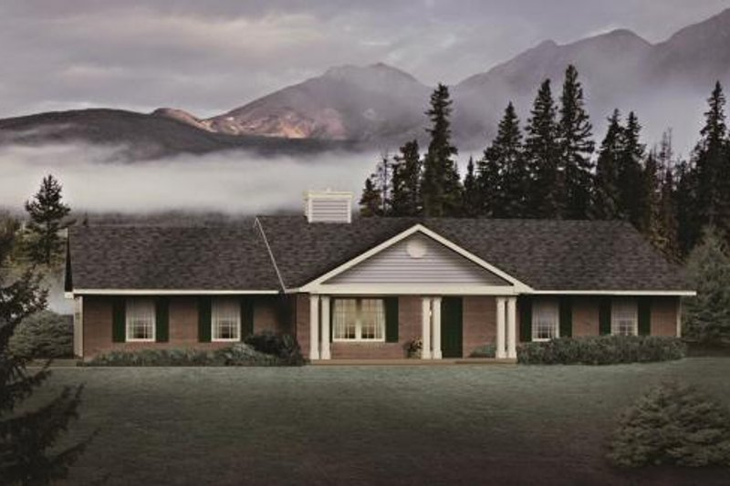 Architectural House Design - Ranch Exterior - Front Elevation Plan #22-110