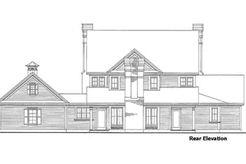 Country Exterior - Rear Elevation Plan #410-115 - Houseplans.com