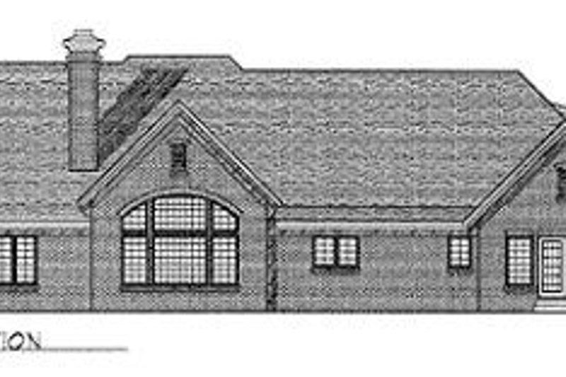 Traditional Exterior - Rear Elevation Plan #70-511 - Houseplans.com