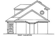 European Style House Plan - 2 Beds 2 Baths 1019 Sq/Ft Plan #45-104 Exterior - Other Elevation