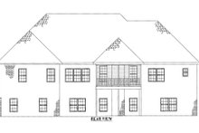 House Plan Design - European Exterior - Rear Elevation Plan #437-31