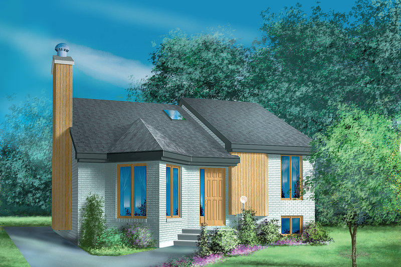 Cottage Style House Plan - 2 Beds 1 Baths 1095 Sq/Ft Plan #25-1186 Exterior - Front Elevation
