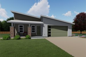 Contemporary Exterior - Front Elevation Plan #126-185