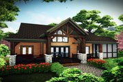 Craftsman Style House Plan - 3 Beds 2.5 Baths 2225 Sq/Ft Plan #70-1494 Exterior - Rear Elevation