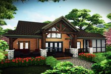 House Plan Design - Craftsman Exterior - Rear Elevation Plan #70-1494
