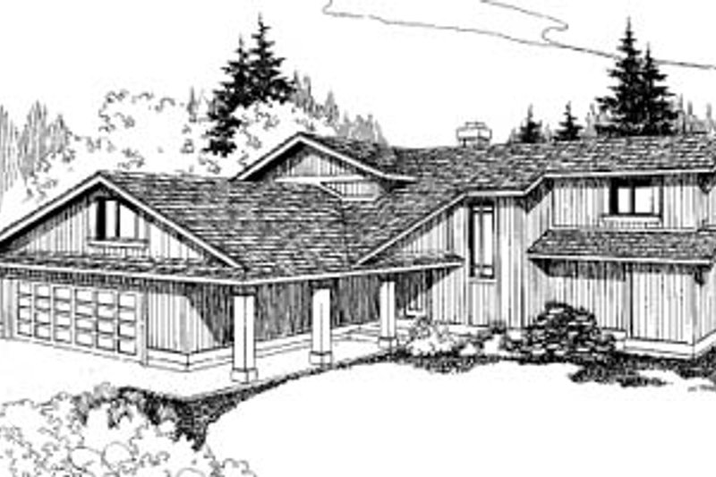 House Plan - 3 Beds 3 Baths 2308 Sq/Ft Plan #60-133 Exterior - Front Elevation