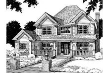 Home Plan Design - Traditional Exterior - Front Elevation Plan #20-307