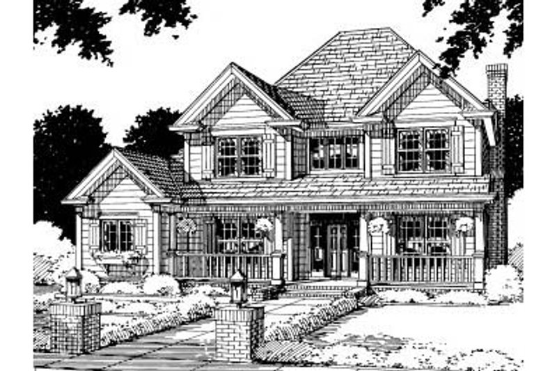 Traditional Exterior - Front Elevation Plan #20-307 - Houseplans.com