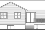 Craftsman Style House Plan - 3 Beds 1 Baths 1024 Sq/Ft Plan #23-2696 Exterior - Rear Elevation