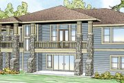Prairie Style House Plan - 3 Beds 2.5 Baths 3867 Sq/Ft Plan #124-873 Exterior - Front Elevation