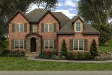 Dream House Plan - European Exterior - Front Elevation Plan #413-885