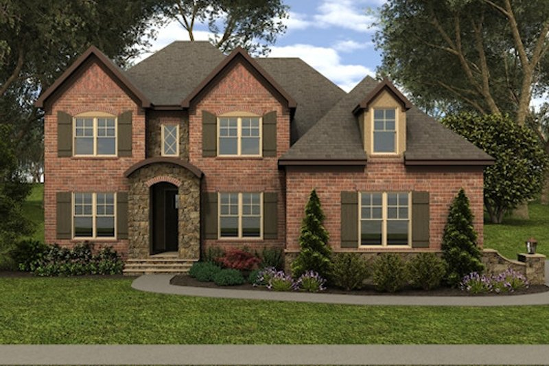 European Exterior - Front Elevation Plan #413-885