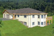 Modern Style House Plan - 5 Beds 4.5 Baths 6550 Sq/Ft Plan #117-524 Exterior - Front Elevation