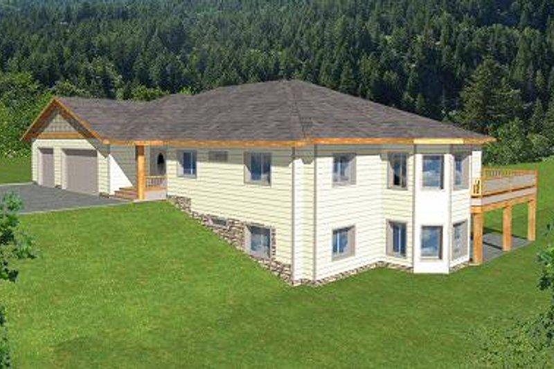 Architectural House Design - Modern Exterior - Front Elevation Plan #117-524