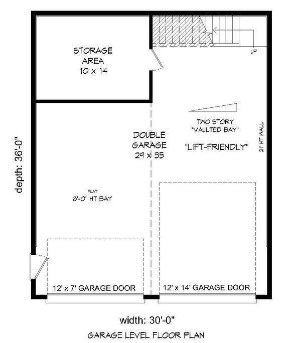 Contemporary Floor Plan - Main Floor Plan Plan #932-187