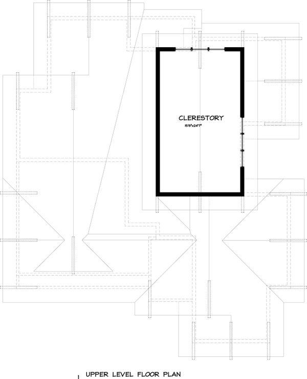 Craftsman Floor Plan - Upper Floor Plan Plan #895-26