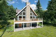 Contemporary Style House Plan - 3 Beds 3 Baths 3184 Sq/Ft Plan #126-146 Exterior - Front Elevation