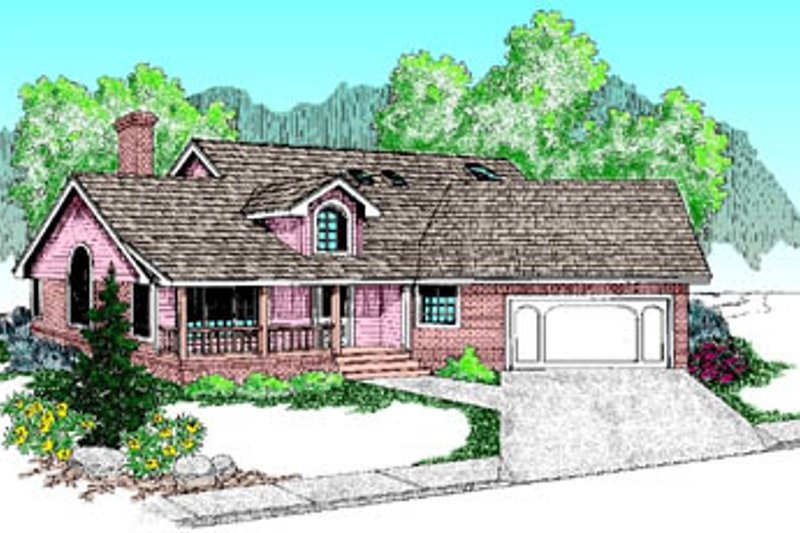Traditional Exterior - Front Elevation Plan #60-182 - Houseplans.com