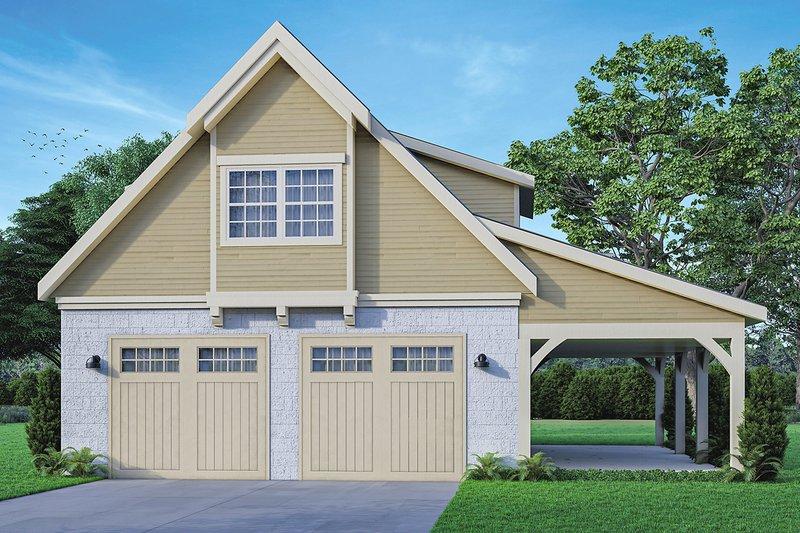 Dream House Plan - Craftsman Exterior - Front Elevation Plan #124-941