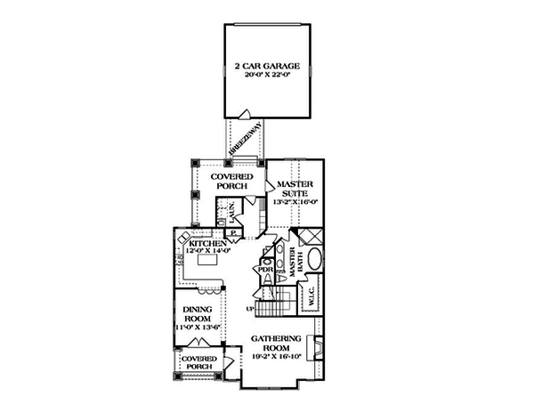 Craftsman Floor Plan - Main Floor Plan Plan #453-9