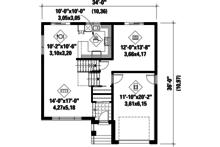 Contemporary Floor Plan - Main Floor Plan Plan #25-4296