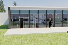 Modern Exterior - Front Elevation Plan #542-11