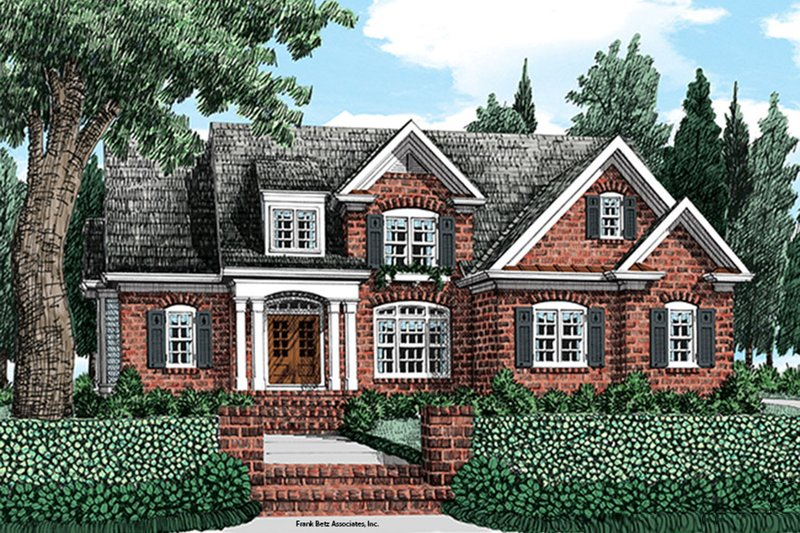 Colonial Exterior - Front Elevation Plan #927-976