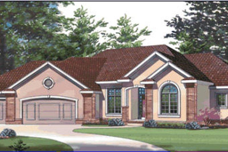 House Plan Design - European Exterior - Front Elevation Plan #20-1282